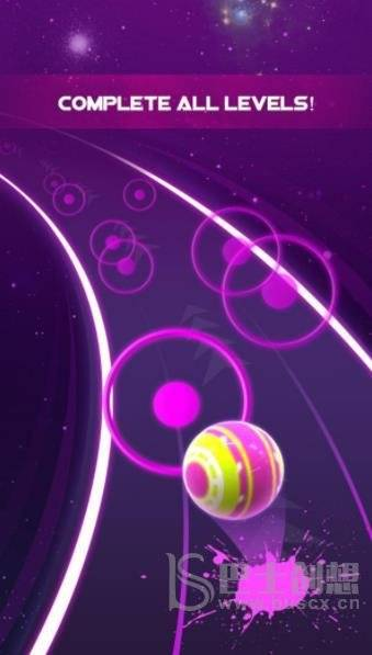 霓虹彩球匆忙之路