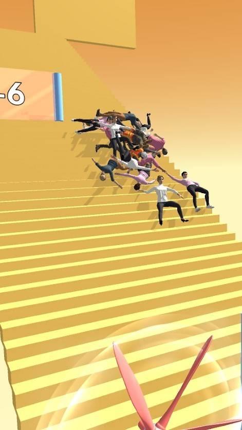 人群楼梯坠落截图