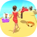 沙滩女神酷走
