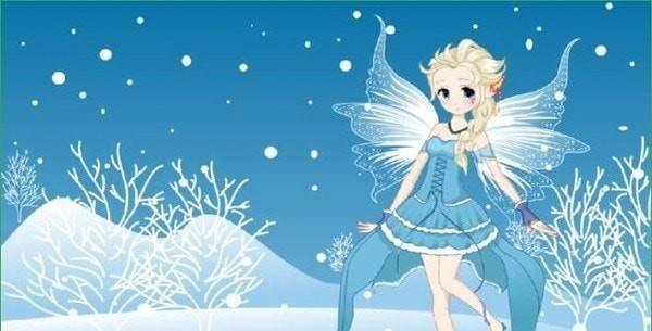 美丽冬日雪仙子截图