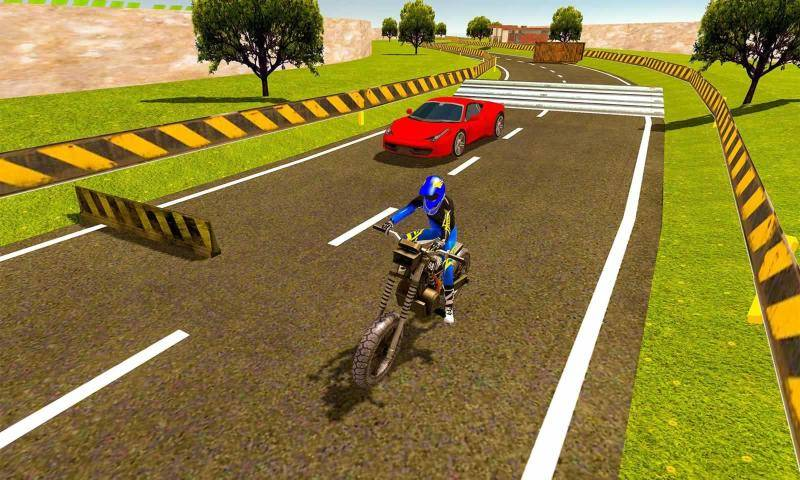摩托车对决赛车截图