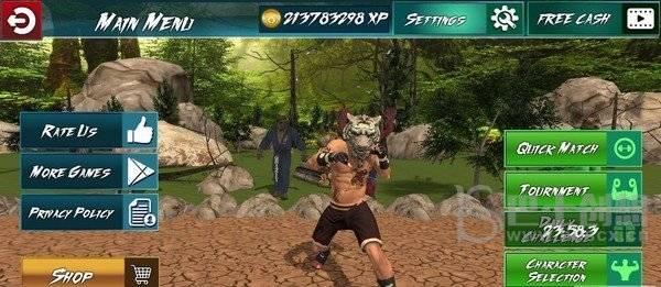 野生动物摔跤斗士