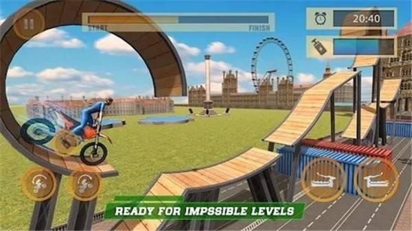 伦敦城市摩托车特技