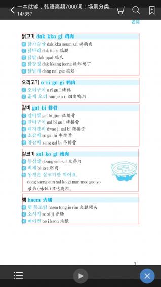 韩语高频7000词截图