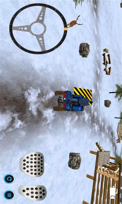 雪地车停车截图