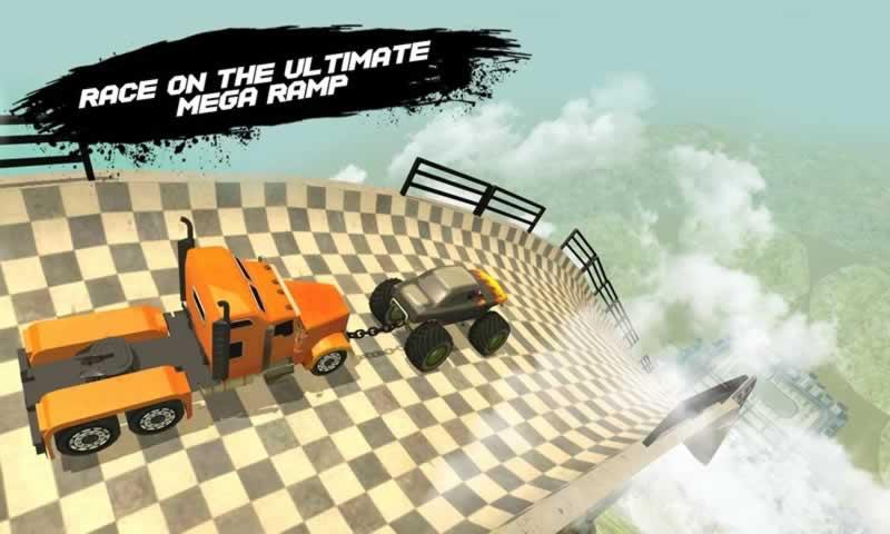 锁链汽车巨大坡道3D截图