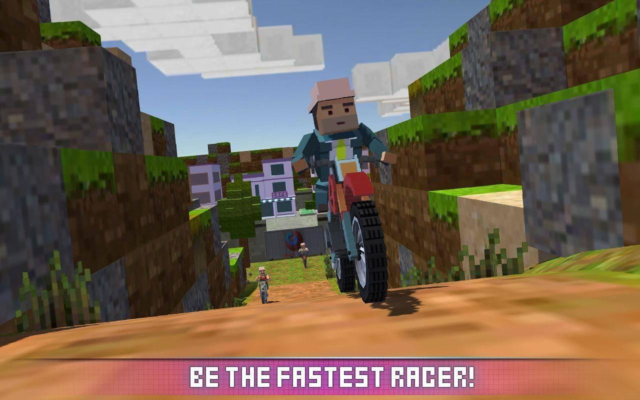 模拟方块摩托车游戏截图