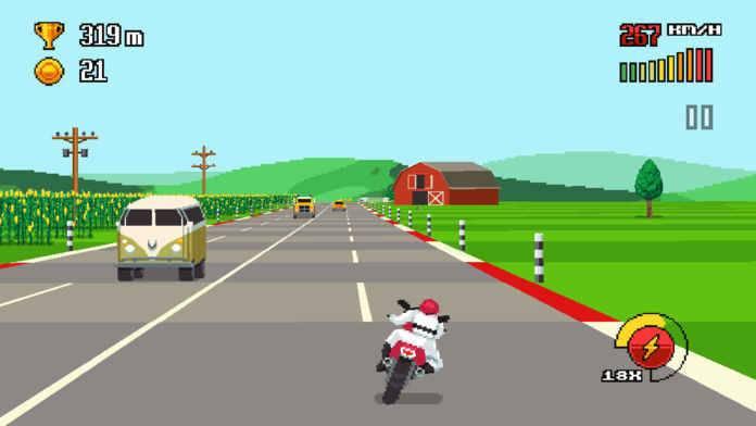 复古公路赛游戏截图