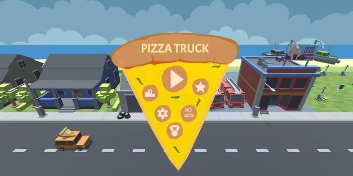 抖音上小车接披萨的游戏截图