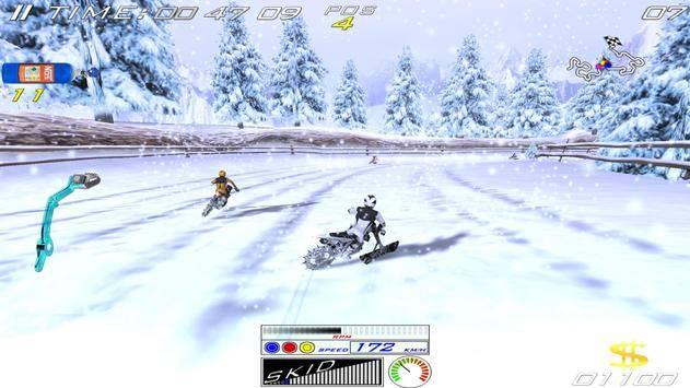 雪地极限自行车截图