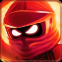 红色忍者战斗