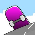 山丘滑板游戏