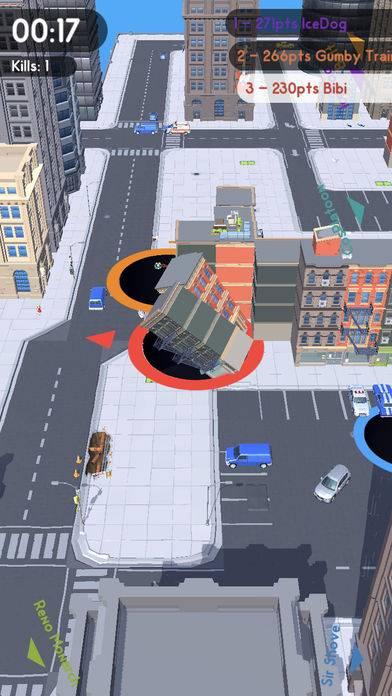 抖音黑洞吞噬城市的游戏截图