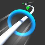 抖音小环沿白线前行的游戏