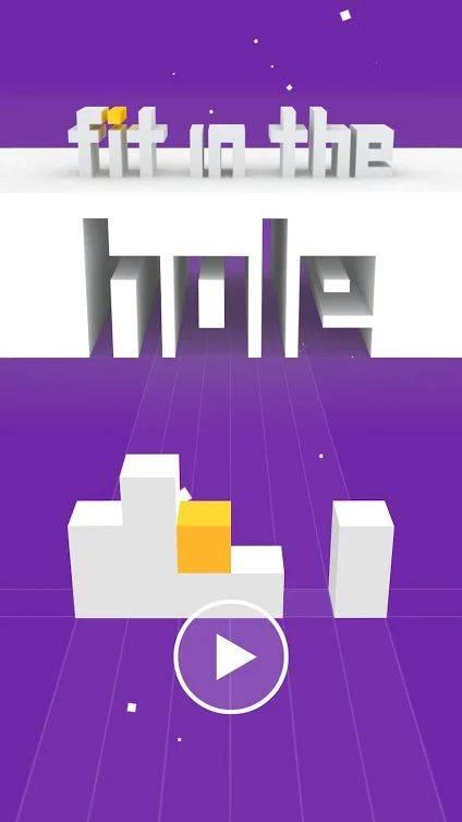 抖音移动方块穿越墙壁的游戏截图