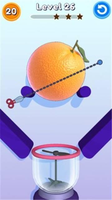 抖音上削水果榨汁的游戏截图
