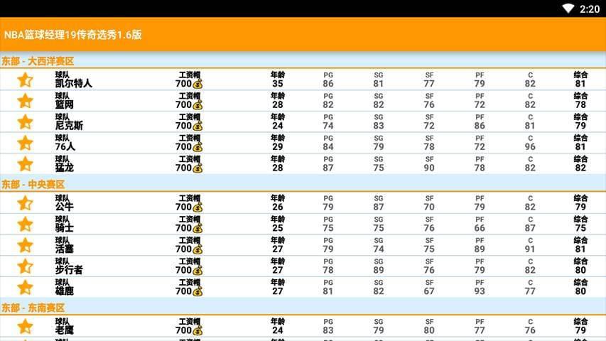 nba篮球经理19无限工资版截图